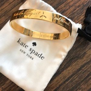 Kate Spade Bride Idiom Bangle -Gold
